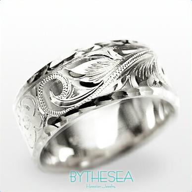 結婚指輪 刻印無料 誕生石ハワイアンジュエリー リング 指輪 刻印無料 誕生石 大きいサイズ 送料無料 オーダーメイドリング マリッジリング ネーム 記念日 誕生日 レディース メンズ 彼女 妻 彼氏 夫 女友達 ジュエリー ペアリングにも ハワジュ WF8A-C 父の日 ミリオンベル