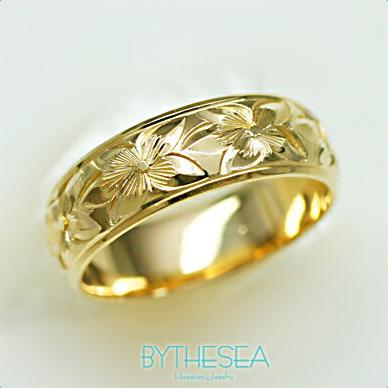 結婚指輪 刻印無料 誕生石ハワイアンジュエリー リング 指輪 刻印無料 誕生石 大きいサイズ 送料無料 オーダーメイドリング マリッジリング ネーム 記念日 誕生日 レディース メンズ 彼女 妻 彼氏 夫 女友達 ジュエリー ペアリングにも ハワジュ YB6D-B 父の日 ミリオンベル
