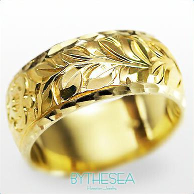 結婚指輪 刻印無料 誕生石ハワイアンジュエリー リング 指輪 刻印無料 誕生石 大きいサイズ 送料無料 オーダーメイドリング マリッジリング ネーム 記念日 誕生日 レディース メンズ 彼女 妻 彼氏 夫 女友達 ジュエリー ペアリングにも ハワジュ YB8B-C ミリオンベル 母の日