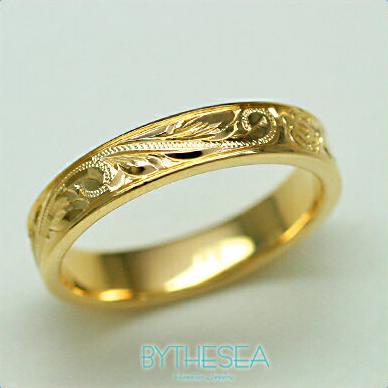 結婚指輪 刻印無料 誕生石ハワイアンジュエリー リング 指輪 刻印無料 誕生石 大きいサイズ 送料無料 オーダーメイドリング マリッジリング ネーム 記念日 誕生日 レディース メンズ 彼女 妻 彼氏 夫 女友達 ジュエリー ペアリングにも ハワジュ YF4A-B 父の日 ミリオンベル