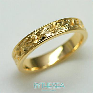 結婚指輪 刻印無料 誕生石ハワイアンジュエリー リング 指輪 刻印無料 誕生石 大きいサイズ 送料無料 オーダーメイドリング マリッジリング ネーム 記念日 誕生日 レディース メンズ 彼女 妻 彼氏 夫 女友達 ジュエリー ペアリングにも ハワジュ YF4D-B 父の日 ミリオンベル