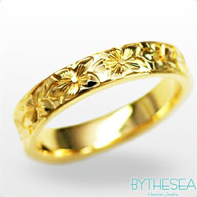 結婚指輪 刻印無料 誕生石ハワイアンジュエリー リング 指輪 刻印無料 誕生石 大きいサイズ 送料無料 オーダーメイドリング マリッジリング ネーム 記念日 誕生日 レディース メンズ 彼女 妻 彼氏 夫 女友達 ジュエリー ペアリングにも ハワジュ YF4D-E 父の日 ミリオンベル