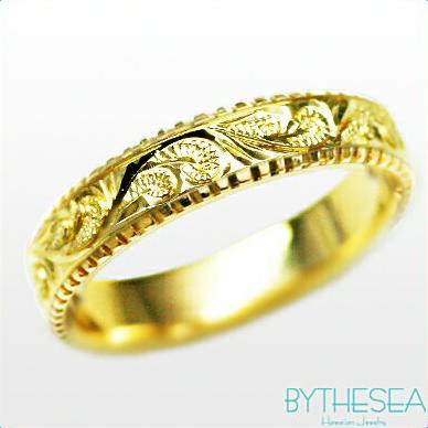 結婚指輪 刻印無料 誕生石ハワイアンジュエリー リング 指輪 刻印無料 誕生石 大きいサイズ 送料無料 オーダーメイドリング マリッジリング ネーム 記念日 誕生日 レディース メンズ 彼女 妻 彼氏 夫 女友達 ジュエリー ペアリングにも ハワジュ YF4E-D 父の日 ミリオンベル