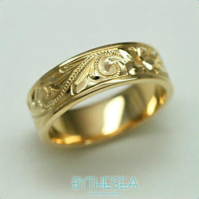 結婚指輪 刻印無料 誕生石ハワイアンジュエリー リング 指輪 刻印無料 誕生石 大きいサイズ 送料無料 オーダーメイドリング マリッジリング ネーム 記念日 誕生日 レディース メンズ 彼女 妻 彼氏 夫 女友達 ジュエリー ペアリングにも ハワジュ YF6A-B 父の日 ミリオンベル