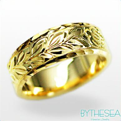 結婚指輪 刻印無料 誕生石ハワイアンジュエリー リング 指輪 刻印無料 誕生石 大きいサイズ 送料無料 オーダーメイドリング マリッジリング ネーム 記念日 誕生日 レディース メンズ 彼女 妻 彼氏 夫 女友達 ジュエリー ペアリングにも ハワジュ YF6B-C 父の日 ミリオンベル