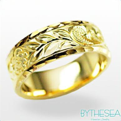 結婚指輪 刻印無料 誕生石ハワイアンジュエリー リング 指輪 刻印無料 誕生石 大きいサイズ 送料無料 オーダーメイドリング マリッジリング ネーム 記念日 誕生日 レディース メンズ 彼女 妻 彼氏 夫 女友達 ジュエリー ペアリングにも ハワジュ YF6C-C 父の日 ミリオンベル