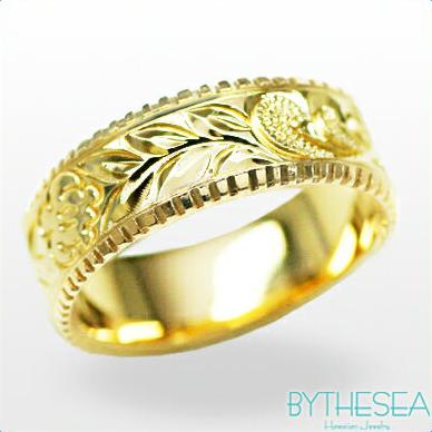 結婚指輪 刻印無料 誕生石ハワイアンジュエリー リング 指輪 刻印無料 誕生石 大きいサイズ 送料無料 オーダーメイドリング マリッジリング ネーム 記念日 誕生日 レディース メンズ 彼女 妻 彼氏 夫 女友達 ジュエリー ペアリングにも ハワジュ YF6C-D 父の日 ミリオンベル