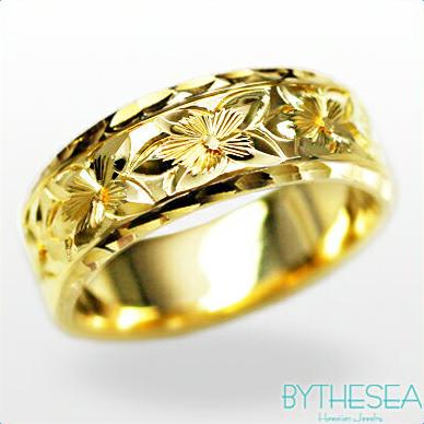 結婚指輪 刻印無料 誕生石ハワイアンジュエリー リング 指輪 刻印無料 誕生石 大きいサイズ 送料無料 オーダーメイドリング マリッジリング ネーム 記念日 誕生日 レディース メンズ 彼女 妻 彼氏 夫 女友達 ジュエリー ペアリングにも ハワジュ YF6D-C 父の日 ミリオンベル