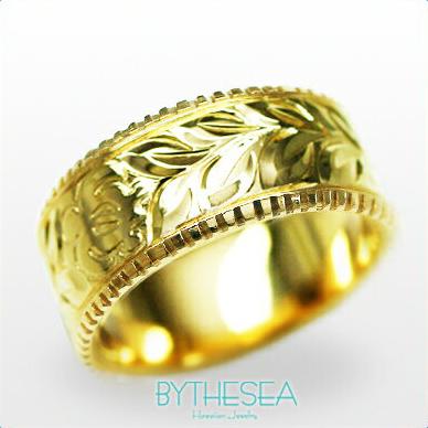 結婚指輪 刻印無料 誕生石ハワイアンジュエリー リング 指輪 刻印無料 誕生石 大きいサイズ 送料無料 オーダーメイドリング マリッジリング ネーム 記念日 誕生日 レディース メンズ 彼女 妻 彼氏 夫 女友達 ジュエリー ペアリングにも ハワジュ YF8B-D 父の日 ミリオンベル