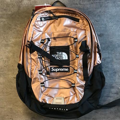 1cb977c51 2018SS Supreme X The North Face シュプリームノースフェイス Metallic Borealis Backpack  backpack color: Rose Gold