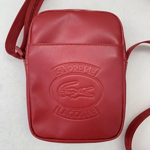 Supreme × LACOSTEシュプリーム ラコステ18SS Shoulder Bag ショルダーバッグサイズ:フリー カラー:レッド【中古品】【1903】【0327】【Supreme】【バッグ】