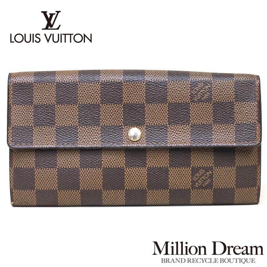 LOUIS VUITTON ルイヴィトンダミエポルトフォイユ・サラ M61734財布 送料無料 【中古】