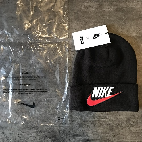 cc2046a2a15 NIKE X Supreme シュプリームナイキ 18AW Beanie knit hat knit cap color  Black size  F