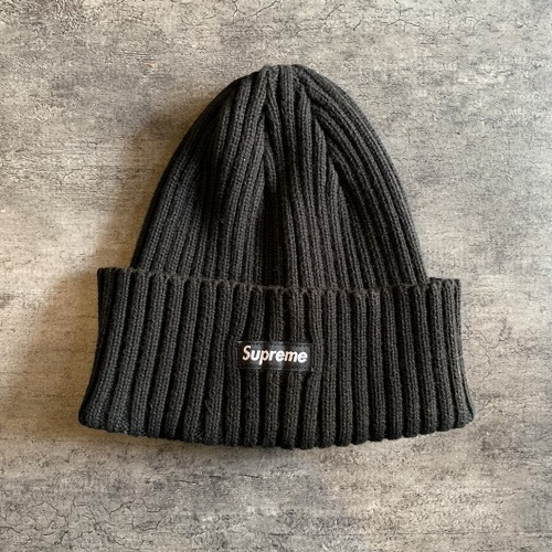 6dfb171ddb8 Supreme Overdyed Ribbed Small Box Logo Beanie Cap Small box logo beanie  knit cap color  Black size  Free