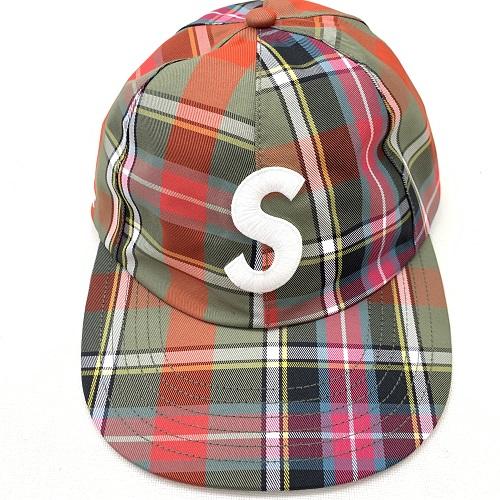 Supreme シュプリーム19SS GORE-TEX S-Logo 6-Panel capゴアテックス キャップ 帽子サイズ:フリー カラー:オリーブチェック【新古品・未使用】【1903】【0327】【Supreme】【cap】【19SS】
