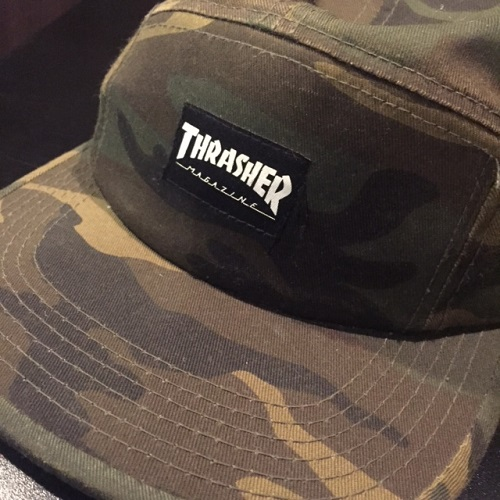 THRASHER slasher CAMO CAMP CAP JET CAP 5-PANEL CAP duck camping cap jet cap  5 panel cap camouflage  CAMO  duck 1245524f73f