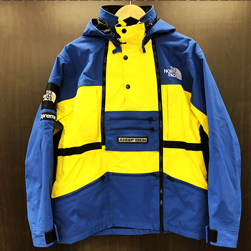 2017ss Supreme X The North Face シュプリーム ザノースフェイス Steep Tech Hooded Jacket Royal Blue Yellow