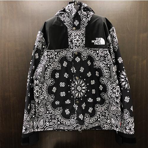 1a9143edd SUPREME X THE NORTH FACE シュプリーム X North Face 14AW Bandana Mountain Parka  bandana pattern mountain jacket BLACK/ black size