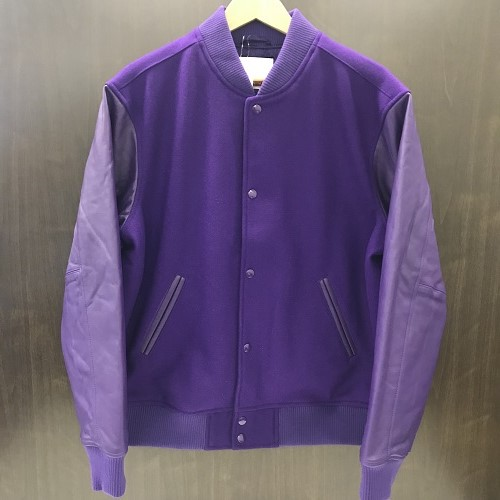 online store 952a3 7eaaa Supreme シュプリーム 18AW Motion Logo Varsity Jacket motion logo award jacket  color  Purple size  ...
