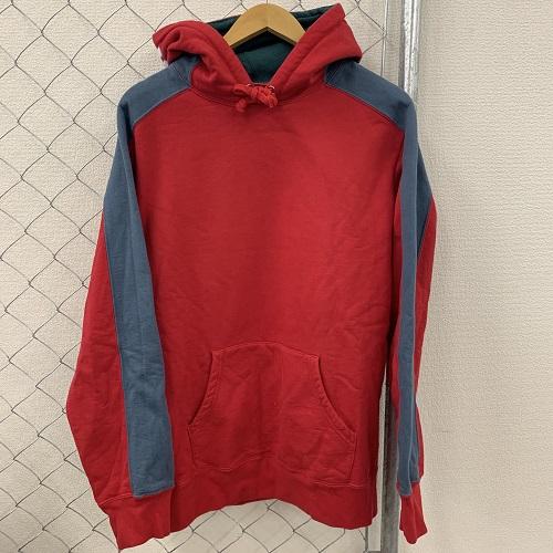 Supreme/シュプリーム18AW Paneled Hooded Sweatshirts 18AW パーカーカラー:レッド サイズ:L【1909】【0903】【中古品】【18AW】