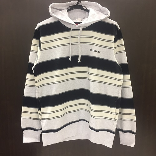 a7c175609cb1 ... 2017ss Supreme シュプリーム Striped Hooded Crewneck stripe hooded crew neck  size ...