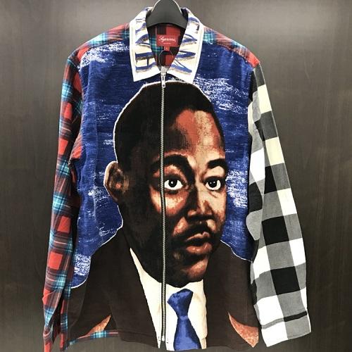 2018SSSupreme シュプリームMLK Zip Up Flannel Shirtジップアップ フランネルシャツ カラー:マルチカラーサイズ:L【新古品】【送料無料】【1806】【0608】