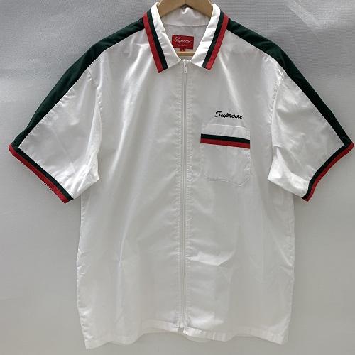 Supreme シュプリーム18SS Zip Up Work Shirtジップアップ ワークシャツサイズ:L カラー:ホワイト【中古品】【1903】【0327】【Supreme】【18SS】