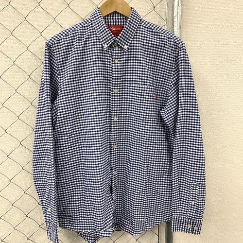 Supreme/シュプリームギンガムチェックシャツカラー:ブルー/ホワイトサイズ:L【新古品】【1907】【0722】