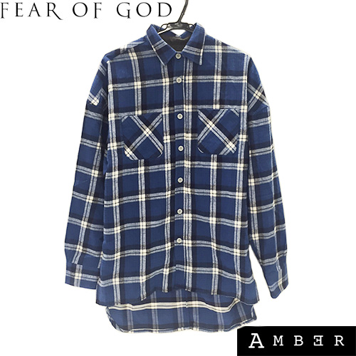 FEAR OF GODフィアオブゴッドFOURTH COLLECTION FLANNEL SHIRTSロング丈チェックシャツ 【未使用】【送料無料】【新古品】