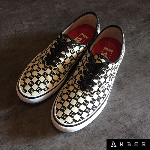 supreme vans checkered authentic