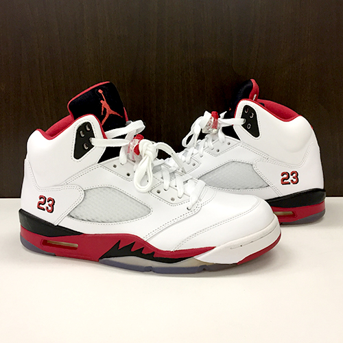 46bfcc6c0dfe NIKE AIR JORDAN 5 RETRO basketball shoes Nike Air Jordan 5 nostalgic 28cm  WHITE FIRE RED-BLACK BLANC ROUGE-NOIR white 136