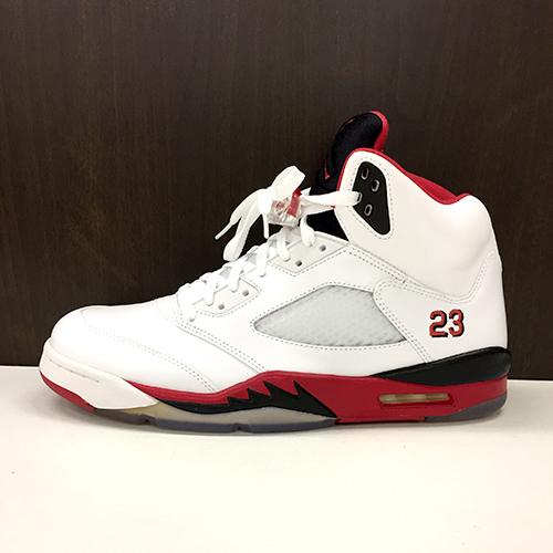 size 40 8762c 5b52d NIKE AIR JORDAN 5 RETRO basketball shoes Nike Air Jordan 5 nostalgic 28cm  WHITE FIRE RED-BLACK BLANC ROUGE-NOIR white 136,027-120 AIR JORDAN