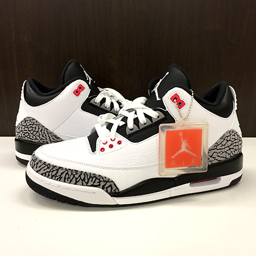 quality design 0c466 65489 NIKE AIR JORDAN 3 RETRO WHITE/BLACK-CEMENT GRY-INFRARED  23/BLANC/NOIR-GRICIM-ROSEIN Nike Air Jordan 3 nostalgic 28cm 136,027-120