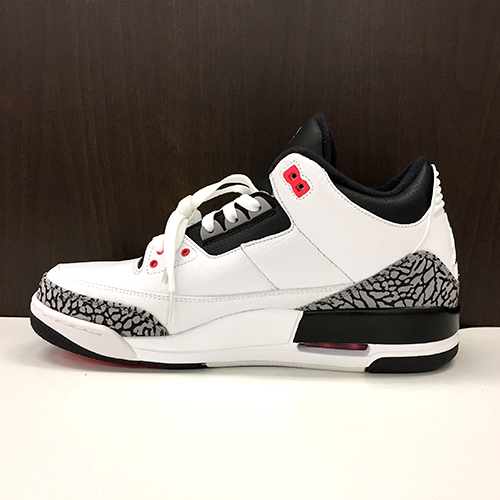 super popular 0eb09 68ec4 NIKE AIR JORDAN 3 RETRO WHITE BLACK-CEMENT GRY-INFRARED 23 BLANC NOIR-GRICIM-ROSEIN  Nike Air Jordan 3 nostalgic 28cm 136,027-120
