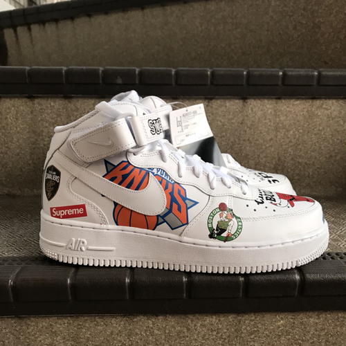 newest collection 42ef1 8bbaa 2018SS Supreme x NIKE x NBA Teams Air Force 1 Mid team air force one mid