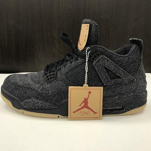 94a470a45f95 LEVI  S X NIKE Levis Nike AIR JORDAN 4 RETRO air Jordan 4 nostalgic  AO2571-001 color  Black size  30cm