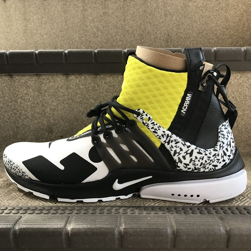 timeless design d9699 2ad70 NIKE X ACRONYM ナイキアクロニウム AIR PRESTO MID AH7832-100 air presto color  WHITE  BLACK-DYNAMIC YELLOW size  30cm