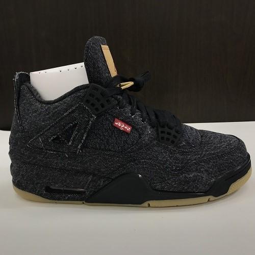 reputable site 2ff43 877a8 LEVI' S X NIKE Levis Nike AIR JORDAN 4 RETRO air Jordan 4 nostalgic  AO2571-001 color: Black size: 25cm