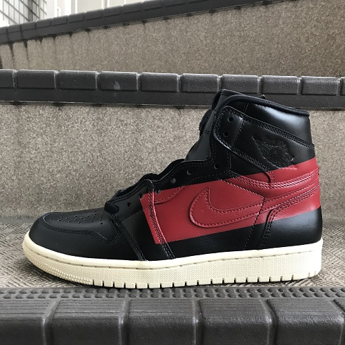 b1f74016fdc6 NIKE AIR JORDAN 1 RETRO HIGH OG DEFIANT Nike Air Jordan 1 nostalgic high  Aussie デファイアントカラー  Black   red size  25.5cm
