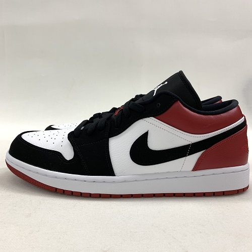 best service df55a 73c2a NIKE Nike AIR JORDAN 1 LOW BALCK TOE Air Jordan 1 robe rack toe color  White    black   red size  30cm