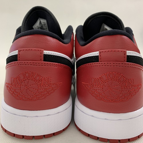 3e3b16df6ac7 NIKE Nike AIR JORDAN 1 LOW BALCK TOE Air Jordan 1 robe rack toe color   White   black   red size  30cm