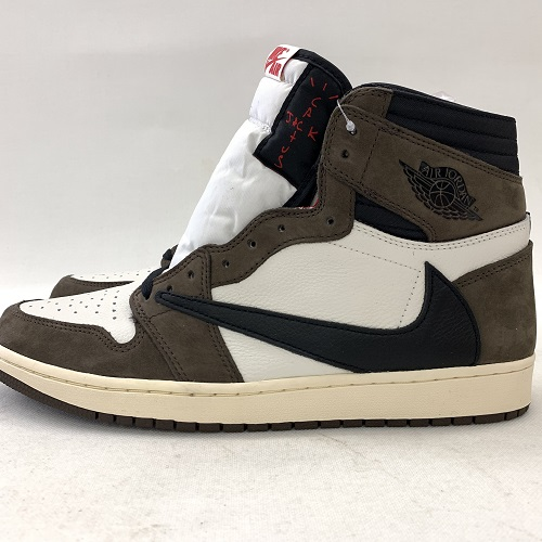 sports shoes 4fab4 8620c NIKE X TRAVIS SCOTT AIR JORDAN 1 HI OG TS SP Nike Travis Scot Air Jordan 1  color: Dark Mocha / tea size: 30cm