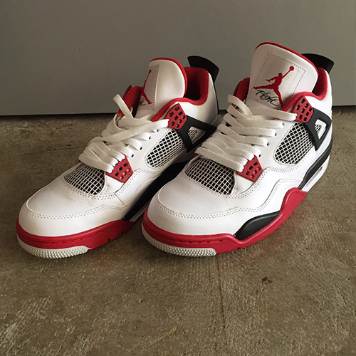 5a9234436a48 NIKE AIR JORDAN 4 RETRO WHITE VARSITY RED BLACK Nike air Jordan 4 nostalgic  308