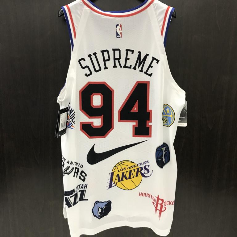 buy popular b5e18 b69ec 2018SS Supreme x NIKE x NBA Teams Authentic Jersey シュプリームタンクトップノースリーブ
