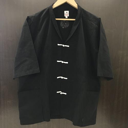 SupremexSasquatchfabrix シュプリームサスクワッチファブリックス Hanten Shirt ハンテンシャツカラー:ブラック サイズ:L【新古品】【1803】【0823】【16SS】