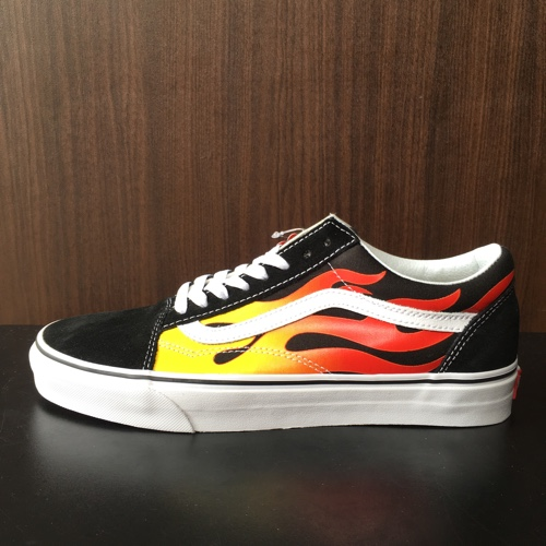4155894173 VANS vans OLD SKOOL FLAME PACK old school frame pack BLACK  black size  24cm