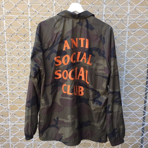 16de6cfde178 ANTI SOCIAL SOCIAL CLUB antisocial social club COACH JACKET coach jacket  camouflage size  L