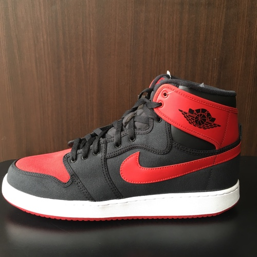 4396fd5cb4de NIKE AIR JORDAN 1 KO HIGH OG Nike Air Jordan 1 knockout original BLACK VARSITY  RED-WHITE 638
