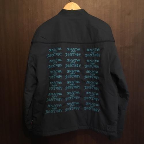 379dbdf1c3e8 2017ss Supreme シュプリーム Thrasher Poplin Crew Jacket slasher poplin jacket  navy size  L