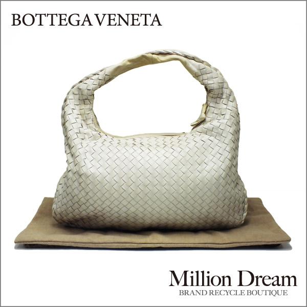 BOTTEGA VENETAボッテガヴェネタイントレチャート ホワイトワンショルダーバッグ中古 ハンドバッグ 送料無料